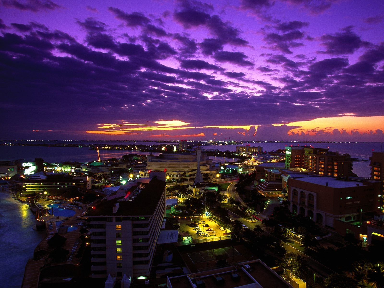 Cancun at Twilight, Mexico