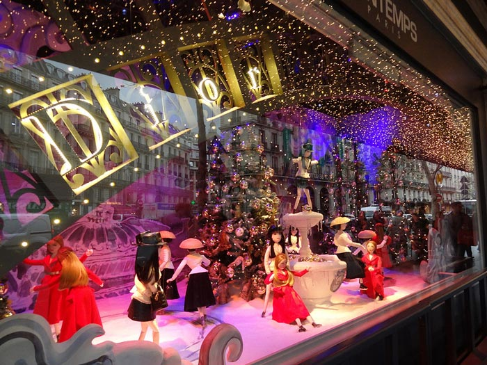 Printemps Christmas Window, Paris France