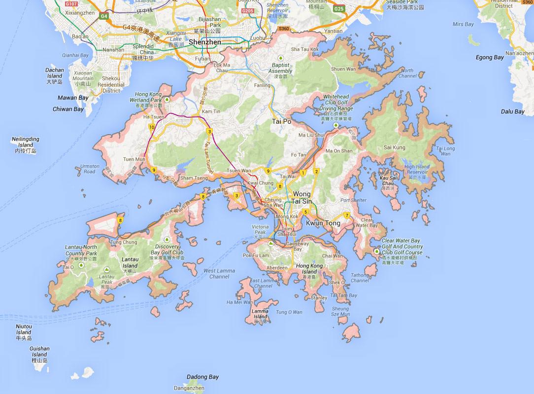 Hong Kong Map Location Country And District Map Of Hong Kong