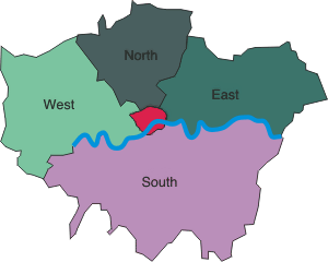 London Map Districts.Map Of London London Location Map And London Districts Map