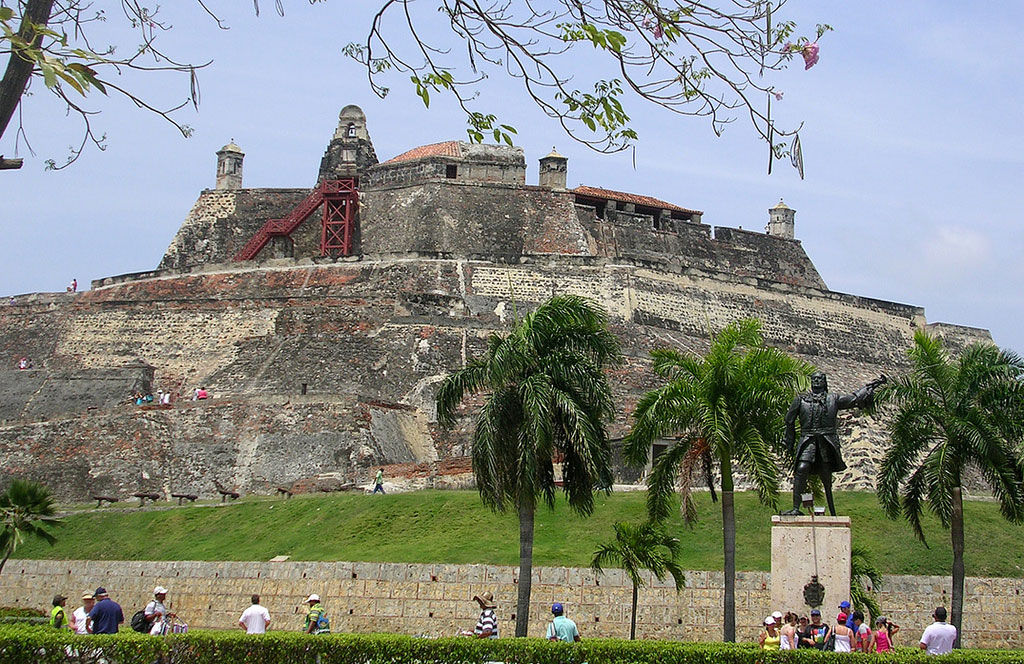 San Felipe Castle in Cartegena, Columbia