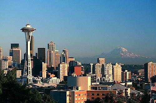 Seattle skyline washington state pacific northwest