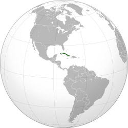 Location of Cuba