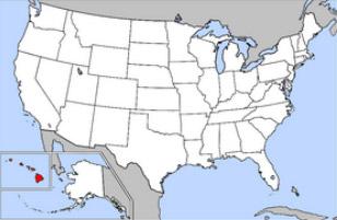 Location of Hawaii