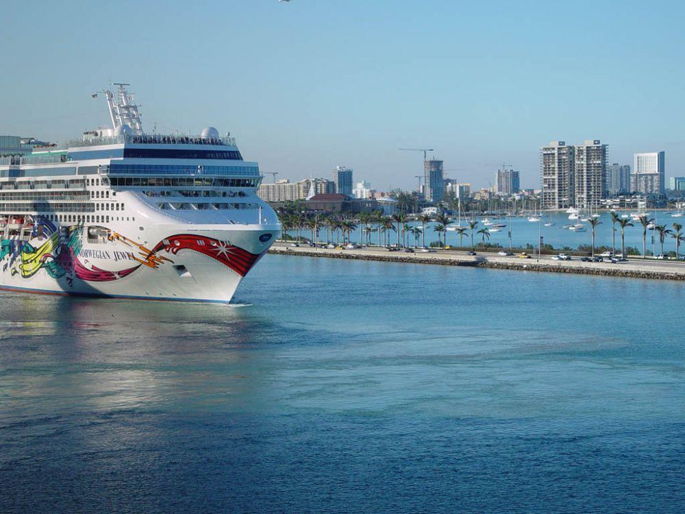 Cruise Ship In Miami Harbour