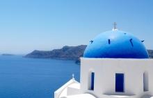 Church in Oia Santorini