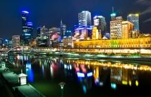 Melbourne, Australia At Night