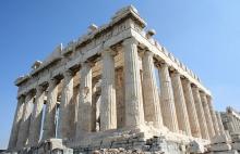 The Parthenon on the Acropolis.