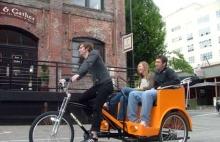 Pedicab ride, New York City.