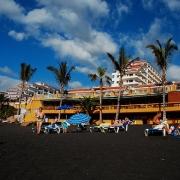 Black Sandy Beach, Tenerife, Canary Islands.