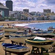 Cantera Beach, Las Palmas, Gran Canaria, Canary Islands.