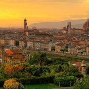 City view of Florence, Italy.