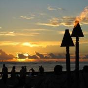 Sunset, Beach Life, Hawaii